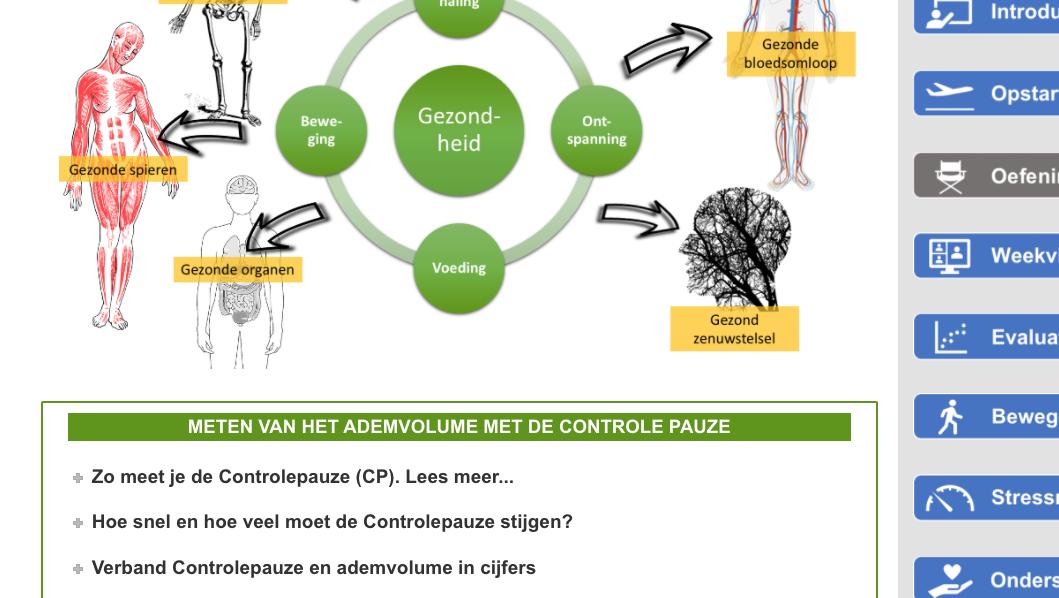 Ademwijzer: training gezonde ademhaling en minder stress